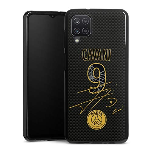 DeinDesign Silikon Hülle kompatibel mit Samsung Galaxy A12 Case schwarz Handyhülle Cavani PSG Trikot