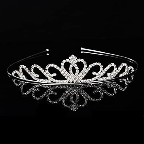 lkpoijuh Boda Nupcial de Dama de Honor Tiara joyería Accesorios para el Cabello Cabeza de Novia (Metal Color : 28)