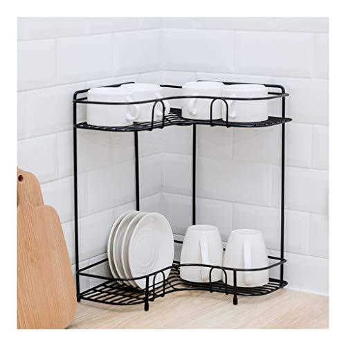 LCHY TB keukenplank, kruidenrek staande driehoek hoek hoek multifunctionele opslag opslag rack dubbellaags kruidenrek opslag rack