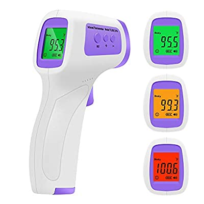 Non Contact Thermometer Forehead Thermometer, Medical Digital Infrared Thermometers with LCD Display Instant Accurate Reading for Body and Surface