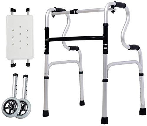JJSFJH Laufgestell aus Aluminium Faltbare Rollator mit Armauflagen Gehen Mobilitätshilfe Bein Trainer Standard-Walker (Color : 3)