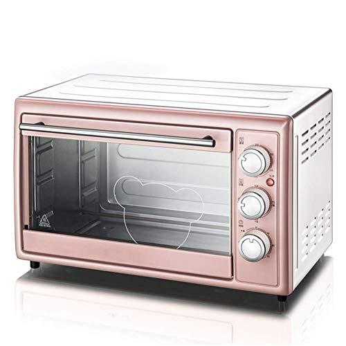 Hogar multifunctionele mini-oven, 30 l, convectie-oven, roestvrij staal, 1600 W kookvermogen, roze