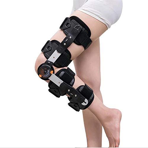 SXFYMWY Rodillera ortopédica con bisagras Rodillera Funcional diseñada para inestabilidades de Rodilla Ortesis de Rodilla Ajustable Estabilizador de articulaciones Deportes de rehabilitación