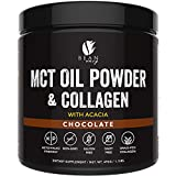 MCT Oil Powder with Collagen and Acacia - Pure MCT's - Perfect for Keto - Energy Boost - Nutrient Absorption - Appetite Control - Healthy Gut Support – Chocolate