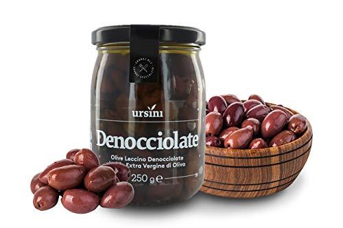 Ursini Aceitunas Negras sin Hueso en Aceite de Oliva Virgen Extra - 250 gr (Paquete de 2 Piezas)