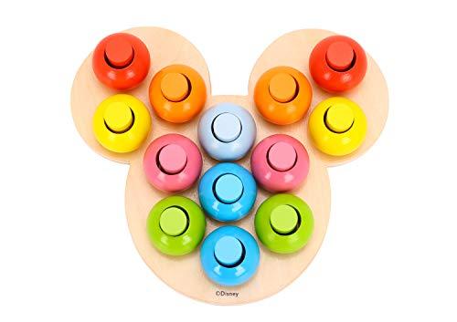 Be_Imex-Jeu Des Couleurs Bois Juego de Colores Disney Mickey Mouse de Madera, Multicolor TL835