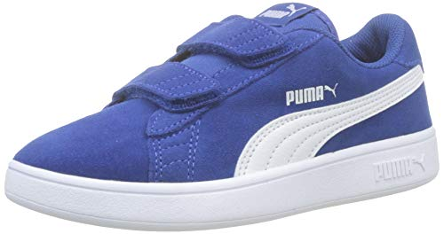 Puma Unisex-Kinder Smash v2 SD V PS Sneaker, (Galaxy Blue White 17), 2.5 EU