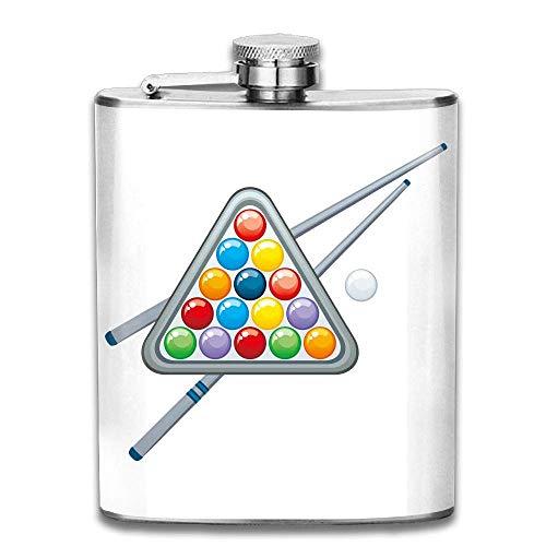 Hüftflaschen Presock, Triangle Billiards Hip Flask for Liquor Stainless Steel Bottle Alcohol 7oz Best Birthday Gift Present for Women Men