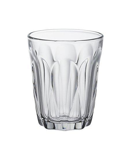 Duralex 511820B34821990 Provence Trinkglas, Wasserglas, Saftglas, 130ml, Glas, transparent, 6 Stück