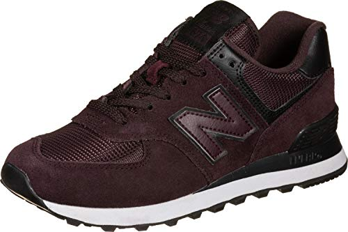 New Balance Damen 574v2 Sneaker, Rot Red Black Red Black, 39 EU