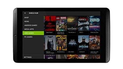 NVIDIA SHIELD 20,3 cm (8 Zoll) Tablet-PC (2,2GHz, 2GB RAM, 16GB Speicher, WiFi, Android 4.4) schwarz