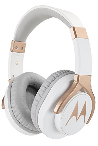 Motorola Pulse 3 Max Over Ear Wired Headphones with Alexa (White)