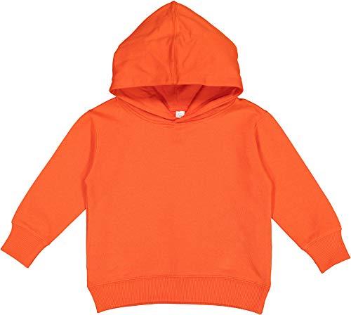 Rabbit Skins Fleece Blank Toddler Pullover Fleece Hoodie [Size 4] Orange Long Sleeve Sweatshirt