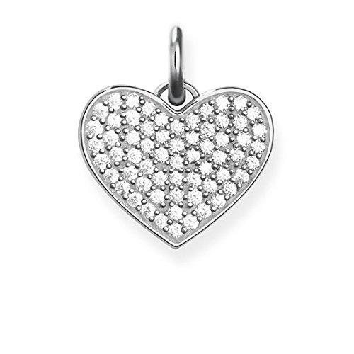 Thomas Sabo Damen-Anhänger Herz Pavé Sterling Silver LBPE0022-051-14