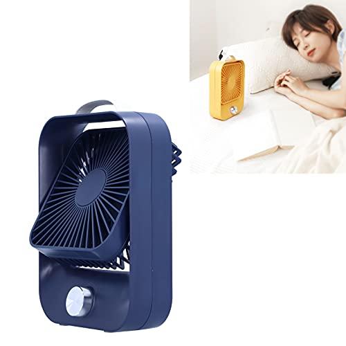 Cuifati Mini Ventilador eléctrico, Ventilador de enfriamiento silencioso de Mesa, admite regulación de Velocidad Continua, batería de Litio incorporada de 2400 mAh(Blue, Pisa Leaning Tower Type)