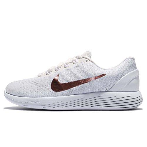 Nike Women's Lunarglide 9 Running Shoe 11 B(M) US Summit White/MTLC Red Bronze