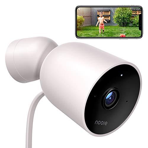 Nooie Überwachungskamera Aussen WLAN IP Kamera 1080P Outdoor IP66 wasserdichte mit PIR Bewegungserkennung Infrarot Nachtsicht Zwei-Wege-Audio Kompatibel mit Alexa, Aktivitätsalarm