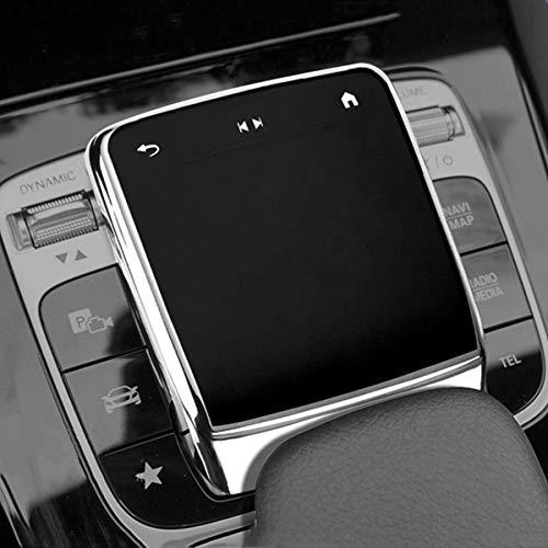 SHIFENG Für Mercedes-Benz A W177 B W247 GLB X247 CLA W118 GLE W167 GLS X167 2020 2021 Weiche TPU Auto-Mittelkonsole Maus Schutzhülle (Silber)