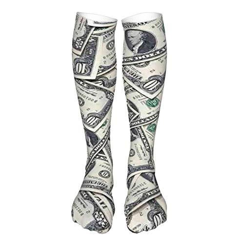 LLOOP 3D Vintage Estilo Grueso Caliente Invierno Dollar Americano Calcetines Causal Calcetines Para Mujeres Y Hombres
