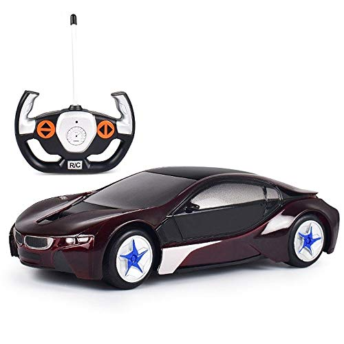 Check Out This Woote 1:24 Scale 4CH Remote Control Car Model Lights Electronic Toys & Hobbies Children Teenagers Adults Presents Fashion RC Car The Best Christmas Gift for Kids (Color : Brown)