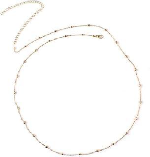 Aaishwarya Minimalist Golden Beach Bikini Thin Metallic Waist Chain/Body Chain for Women and Girls
