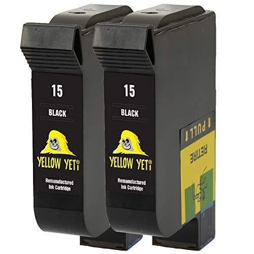 Yellow Yeti Ersatz für HP 15 Druckerpatronen Schwarz kompatibel für HP Deskjet 816c 825c 827 840c 841c 842c 843c 845c 845cvr 848c [3 Jahre Garantie]