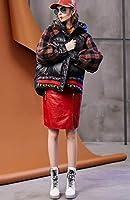 ジャケット コート 暖かい カッコイイ お洒落 4サイズ ふわふわ 防風 防寒コート 着痩せ カジュアル お出かけ 綺麗 防寒 防風 レディース 暖かい アウター レディース ダウン ミドル丈 チェック フード ゆったり ブラック (S)