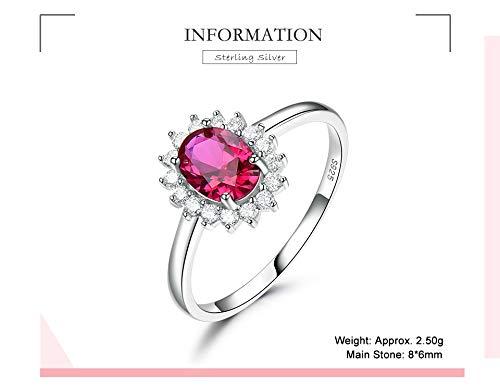 De echte 925 sterling zilveren ringen rode edelsteen robijn bruiloft verlovingsfeest geschenken fijne juwelen