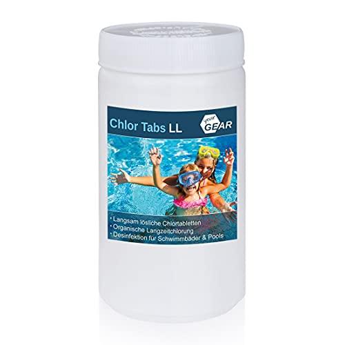 your GEAR 1 kg Chlor Tabs LL - 20g Chlortabletten, langsamlösliche Tabletten mit 92% Aktiv-Chlor zur Pool Desinfektion