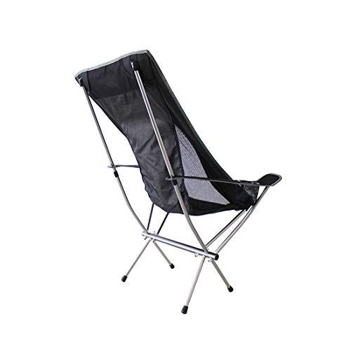 LHY TRAVEL Camping Chaise Pliable Chaise de réalisateur Noire,Camping Ultra-LéGèRes Portatives avec Le Sac De Transport Terrasse, Sport, éVéNement, Festival, Compact,Forte Charge,