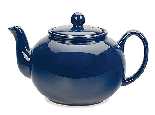 RSVP Large Stoneware 6-Cup Teapot, Blue