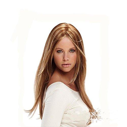 Meylee Perruques Brown souligner Blonde Longtemps délié Tout Droit Normal Beauty Perruques de Cheveux de Femmes Mesdames