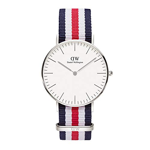 Daniel Wellington dameshorloges analoog kwarts parel/nylon 32001501