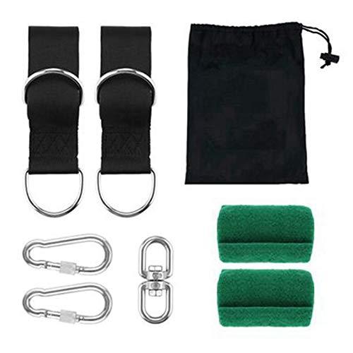 Suading Kit de correas para colgar en el árbol, correas para hamaca al aire libre, soporta 2000 libras, para camping, mochilero, patio, hamacas y columpios