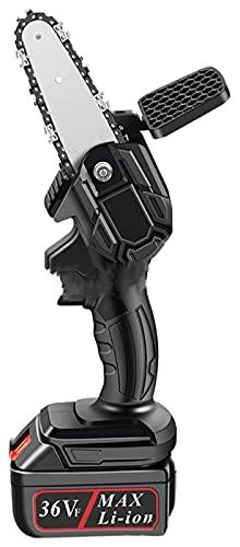 H-BEI Mini Sierra de Cadena para Cortar Madera, Motosierra inalámbrica con batería de Iones de Litio, Potente Sierra Recargable con Sistema de Afilado automático Power Sharp Mini motosie