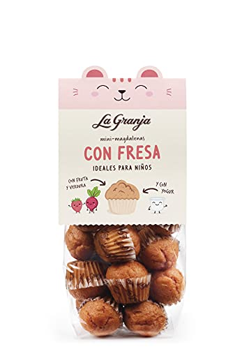 La Granja Mini Magdalenas con Fresa y Yogur, 200 g