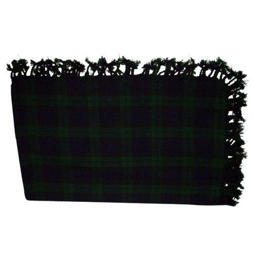Nieuwe zwarte horloge Kilt vliegen Plaid acryl wol sjaal gewalst franje sjaal