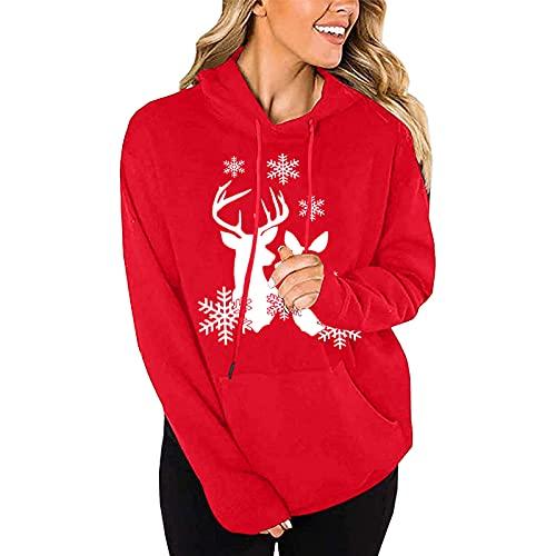 Christmas Sweatshirts for Women Funny Santa Claus Graphic Drawstring Long Sleeve Sweatshirts Teen Girls Fall Tops