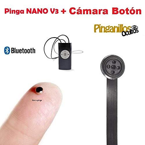 Pinga Nano V3 + Cámara Botón Espía WiFi (Negro)