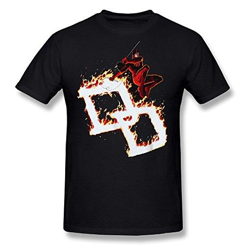 Men's Daredevil Firebrand DD Fire Circle Short Sleeves T-shirt Black