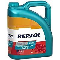 Repsol RP141Q55 Elite Evolution Long Life 5W-30 Aceite de Motor para Coche, Multicolor, 5 L
