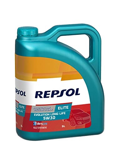 Repsol RP141Q55 Elite Evolution Long Life 5W-30 Aceite de Motor para Coche, Multicolor, 5 L