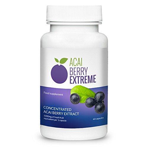 ✅ACAI BERRY EXTREME Premium, pierde hasta 15 kilos en un mes, quema grasa eficaz, con valiosas vitaminas y antioxidantes, ¡eficaz contra la obesidad! 60 cápsulas