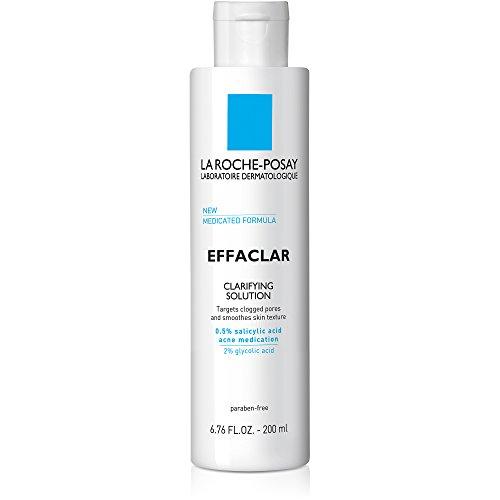La Roche-Posay Effaclar Clarifying Solution Acne Toner with Salicylic Acid, 6.76 Fl Oz
