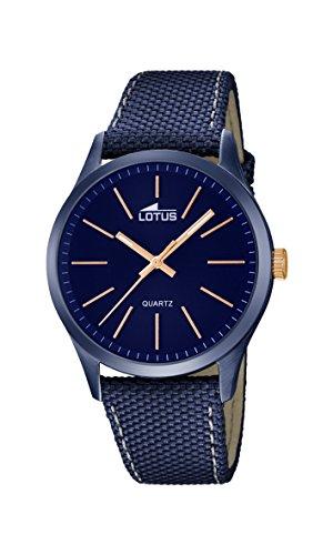 Lotus 18166/2 - Reloj de Pulsera para Hombre (Cuarzo, analógico, manecillas Luminosas), Color Azul