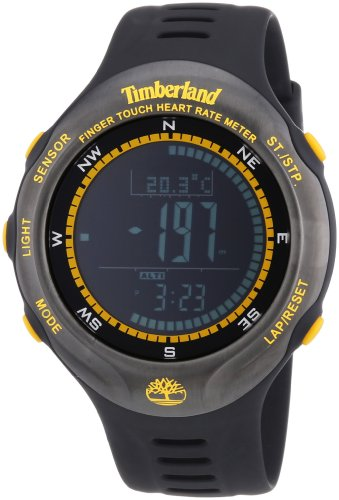 Timberland - TBL.13386JPBU/02 - Montre Homme - Quartz Digitale - Altimètre/Moniteur de fréquence Cardiaque/Chronomètre/Chronomètre - Bracelet Plastique Noir