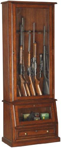 Buy Bargain American Furniture Classics 12-Gun Cabinet with Slanted Display Base, Brown Cherry