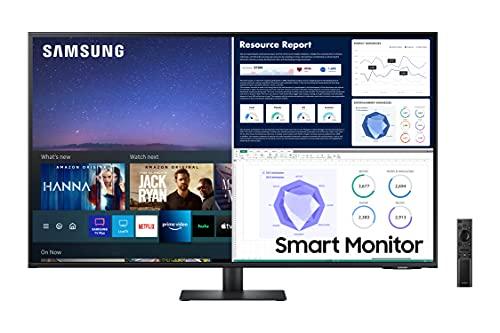 Samsung 43-Inch Class Monitor M7 Series - UHD Smart Monitor LS43AM702UNXZA, 2021 Model