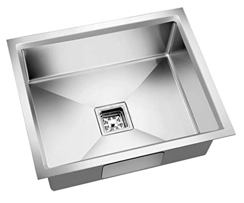 rigwell lifetime 304 Grade Single Bowl Stainless Steel Handmade Sink (18 x 16 x 10 inches)