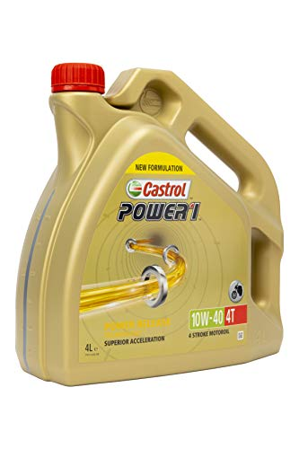 Castrol 15043F Power 1 Engine Oil 10W-40 4T, 4L